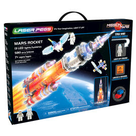 Laser Pegs Building Blocks Playset - Mission Mars Collection - Mars Explorer