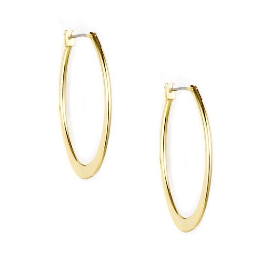 Anne Klein Large Oval Hoop Earrings - Gold