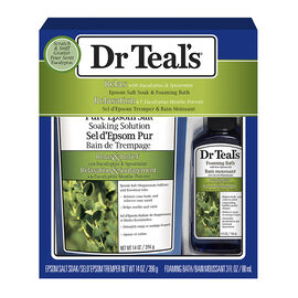 Dr Teal's Epsom Salt Soak & Foaming Bath Set - Eucalyptus & Spearmint