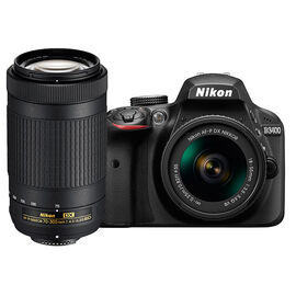 Nikon D3400 with AF-P DX 18-55mm VR and AF-P DX 70-300mm VR Lens - PKG 24667