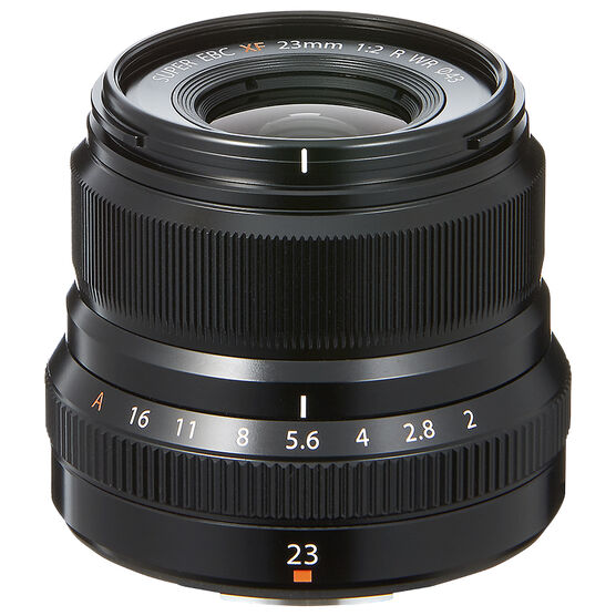 Fuji XF 23mm F2 R WR Lens - Black - 600017198