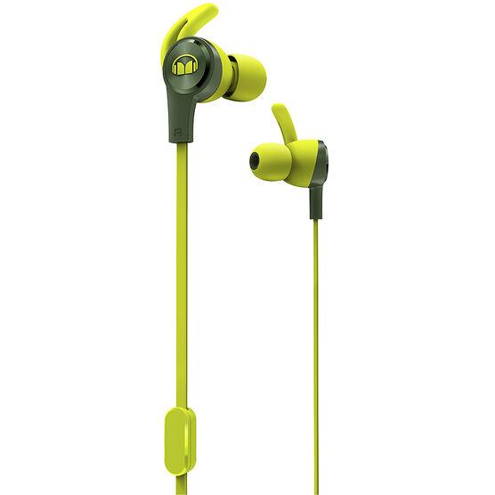 Monster iSport Achieve Headphones - Green - MHISRTACHIEGRMICGR