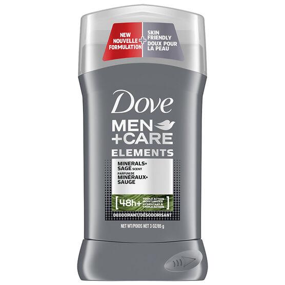 Dove Men+Care Elements Minerals+Sage Deodorant Stick - 85g