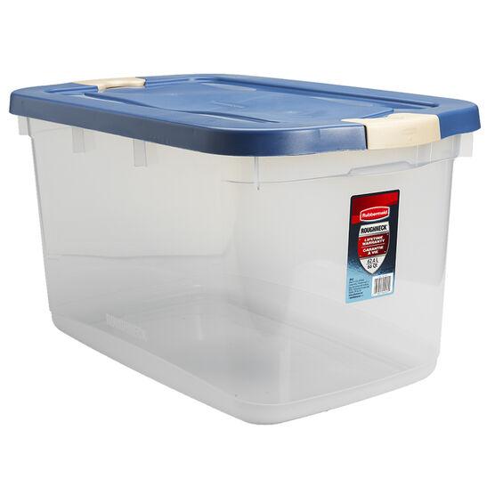 Rubbermaid Roughneck Latch Box - Clear - 62L