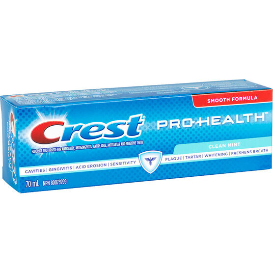 Crest PRO-Health Smooth Formula Toothpaste - Clean Mint - 70ml