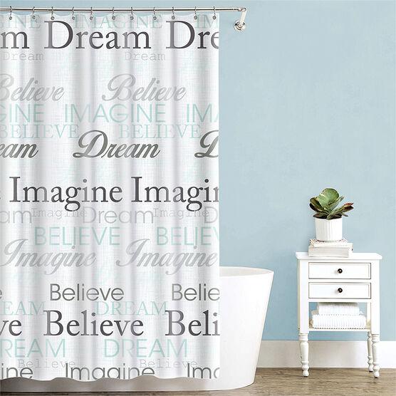 Splash Fabric Shower Curtain - Dream Blue