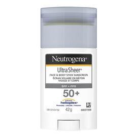 Neutrogena Ultra Sheer Face & Body Stick Sunscreen - SPF 50+ - 42g