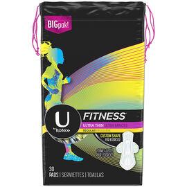 U by Kotex Fitness Ultra Thin Pads - Regular - 30's