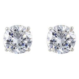 Charisma Stainless Steel Charisma Cubic Zirconia Stud Earrings