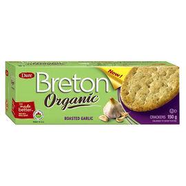 Breton Organic Crackers - Roasted Garlic - 150g