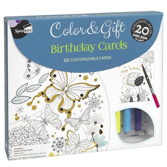 Spicebox Colour & Gift - Birthday Cards - 20 piece