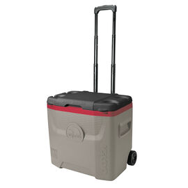 Igloo Quantum Roller Cooler - Sandstone/Red/Black - 28qt