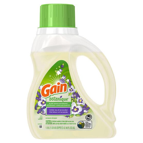 Gain Botanique Laundry Detergent - White Tea & Lavender - 1.18L