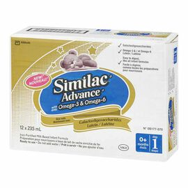 Similac Advance Ready to Feed with Omega 3 & 6 - 12 x 235ml