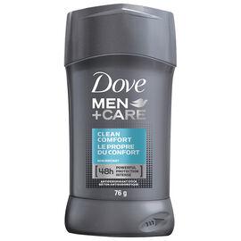 Dove Men +Care Clean Comfort Non Irritant Anti-Perspirant Stick - 76g