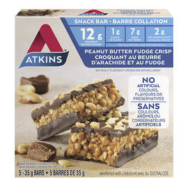 Atkins Snack Bar - Peanut Butter Fudge Crisp - 5 x 35g