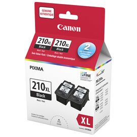 Canon PG-210XL Twin Pack Ink Cartridges - Black - 2973B020