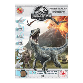 Jurassic World Christmas & New Year Chocolate Advent Calendar - 50g