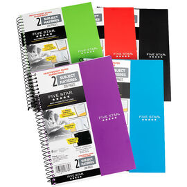 Five Star Heavy Duty 2 Subject Notebook - Assorted