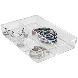 InterDesign Linus Drawer Organizer - Clear - 13 x 9 x 2.25 inch