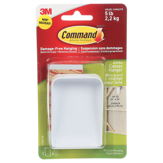 Command™ Jumbo Canvas Hanger - Single