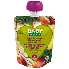 Baby Gourmet Baby Food Stage 1 - Banana Apple Kale - 128ml