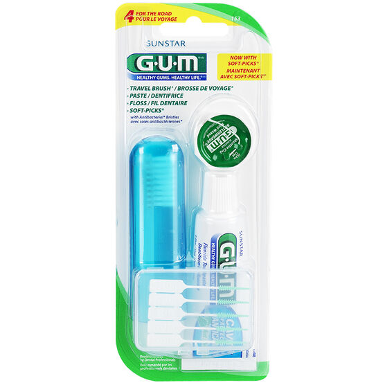 G.U.M. Four for the Road Toothbrush Kit