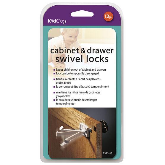 KidCo Cabinet and Drawer Swivel Locks - 12 pack - S333-12