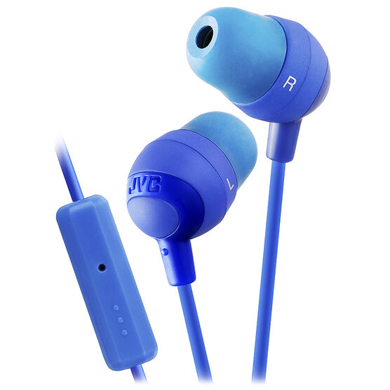 JVC Marshmallow In Ear Headphones with Remote and Mic - Blue - HAFR37A