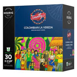 K-Cup Timothys Coffee - Colombian La Vereda - 30 Pack