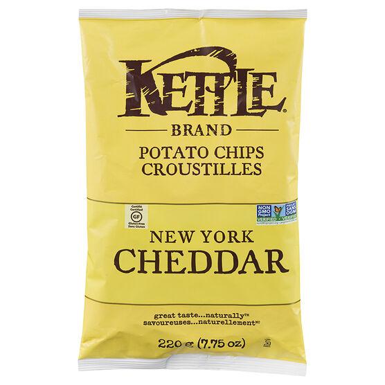 Kettle Brand Potato Chips - New York Cheddar - 220g
