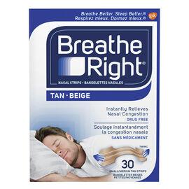 Breathe Right Nasal Strips - Tan - Small/Medium - 30's