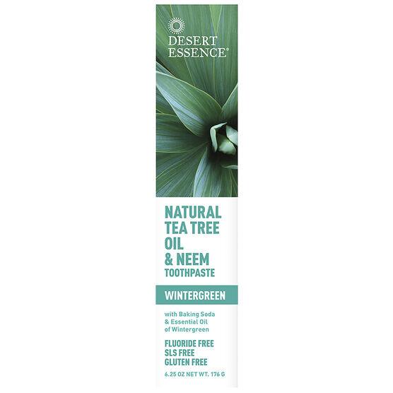 Desert Essence Tea Tree Oil Toothpaste with Neem - 176g