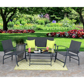 Folding Patio Set - 4 piece
