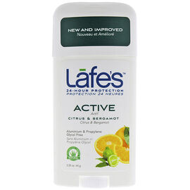 Lafe's Active Deodorant Stick - Citrus & Bergamot - 64g