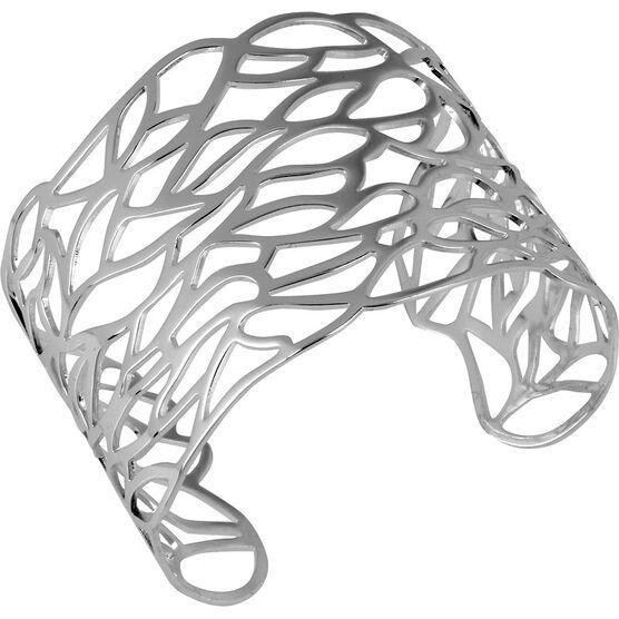 Haskell Silver Filigree Cuff Bracelet