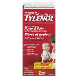 Tylenol Infant Fever and Pain Relief Suspension Drops - Cherry Flavour - 24ml