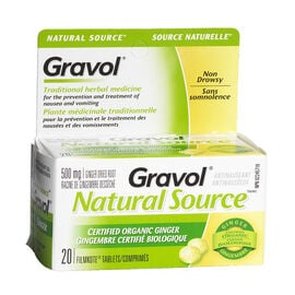 Gravol Natural Tablets - 20's