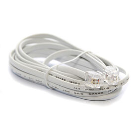 UltraLink 7' Telephone Line Cord - White - UHS90CL