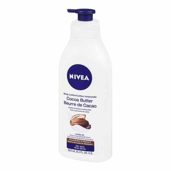 Nivea Body Lotion - Cocoa Butter and Vitamin E - Dry Skin - 625ml