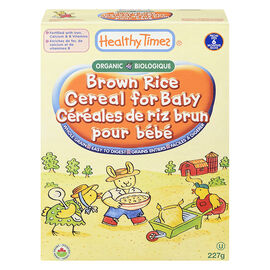 Healthy Times Organic Baby Cereal - Brown Rice - 227g