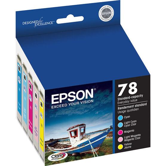 Epson 78 Claria Hi-Definition Ink 78 Standard-Capacity Colour Ink Cartridge - Colour Multi-pack - T078920-S