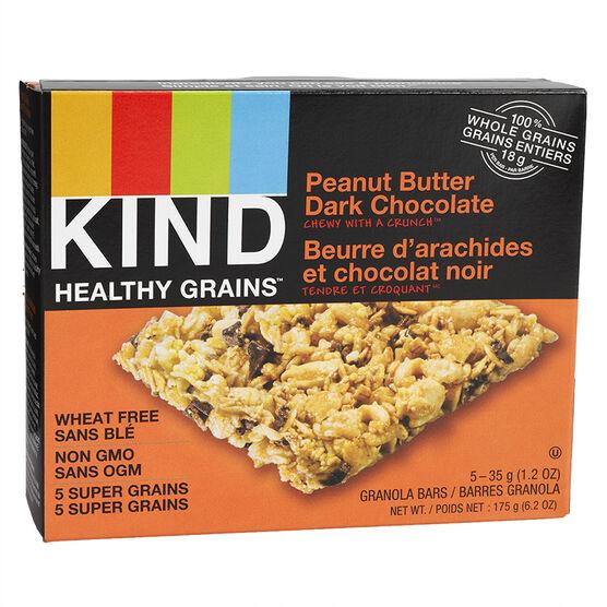 Kind Healthy Grains Bar - Peanut Butter Dark Chocolate - 5 x 35g