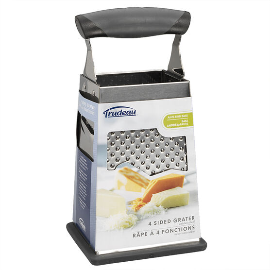 Trudeau Stainless Steel Comfort Grip Grater - 4 sided