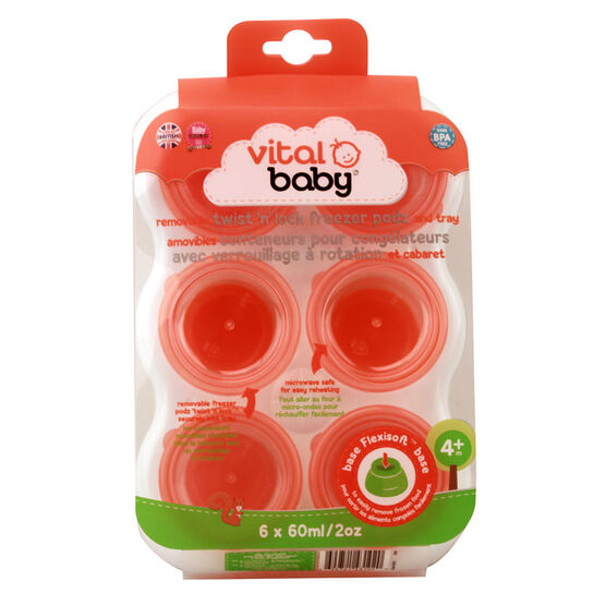 Vital Baby Freezer Pod Tray - 6 x 60ml