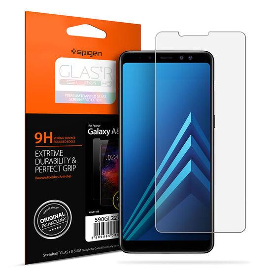 Spigen Glas.tR HD Slim Glass Protector for Samsung Galaxy A8 - Clear - SGP590GL22746