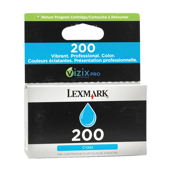 Lexmark 200 Return Program Ink Cartridge - Cyan - 14L0647