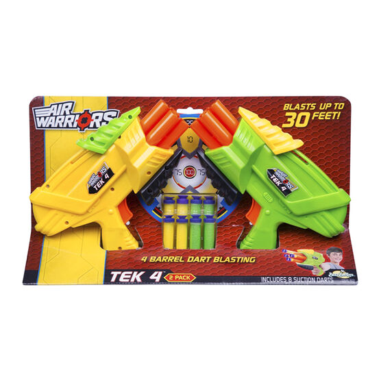 Buzz Bee Toys- Air Warriors Tek 4 - 2 Pack