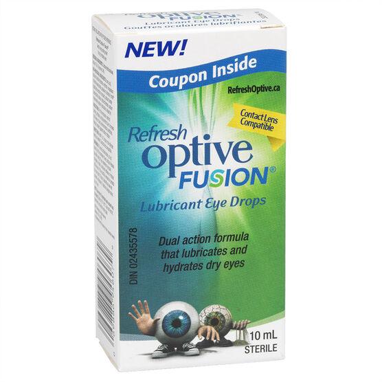 Refresh Optive Fusion Lubricant Eye Drops - 10ml