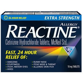 Reactine Tablets Extra Strength - Non-Drowsy - 30's